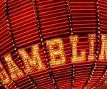 Glowing Gambling Sign