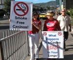 smoke free protest
