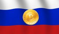 Russian Flag Bitcoin